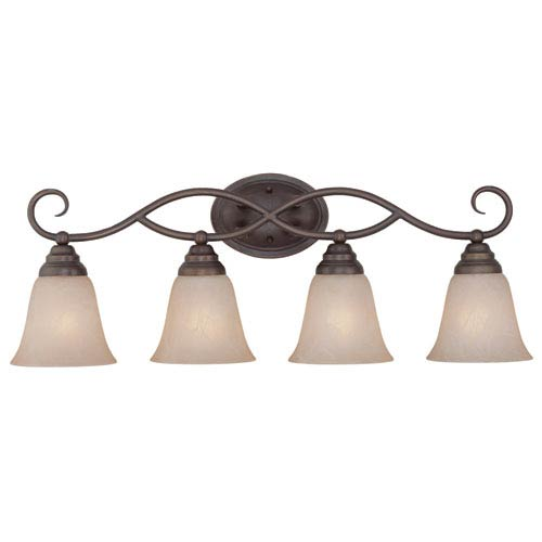 Cordova Old Bronze Four Light Vanity