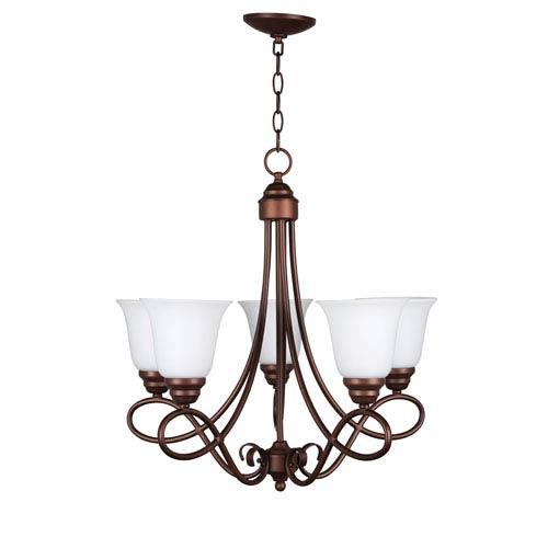 Cordova Old Bronze Five-Light Chandelier