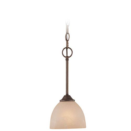 Raleigh Old Bronze Six-Inch One-Light Mini Pendant