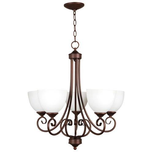 Raleigh Old Bronze Five-Light Chandelier