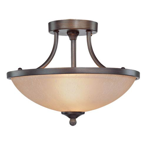 Jeremiah by Craftmade Spencer Bronze Two Light Semi Flush