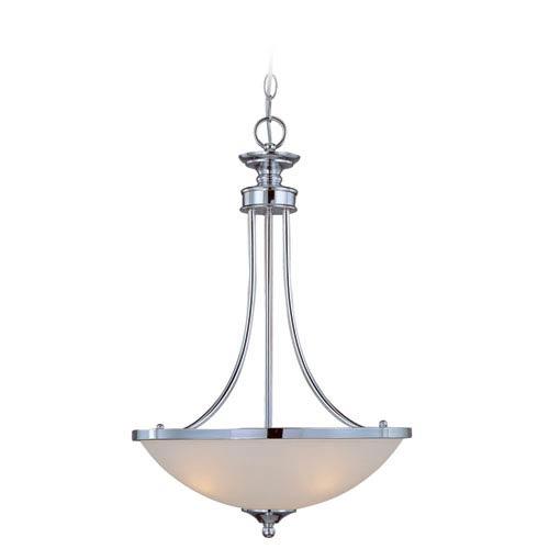 Spencer Chrome Three Light Bowl Pendant