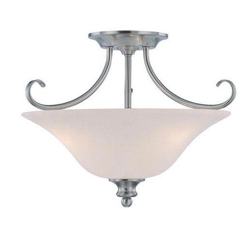 Craftmade Linden Lane Satin Nickel Three Light Semi-Flush Ceiling Fixture
