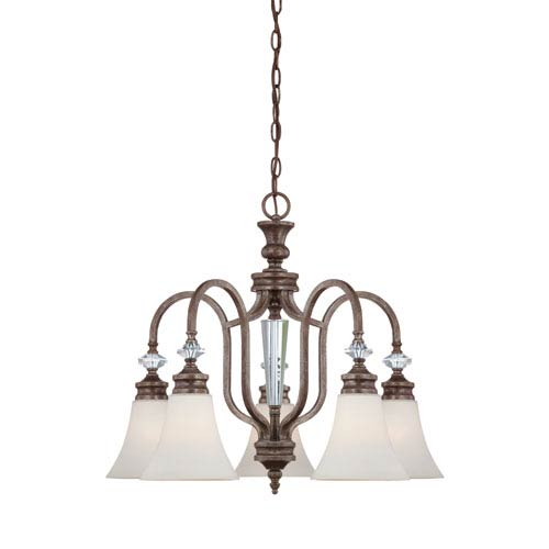 Craftmade Boulevard Mocha Bronze Five Light Chandelier