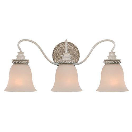 Zoe Antique Linen Three Light Chandelier