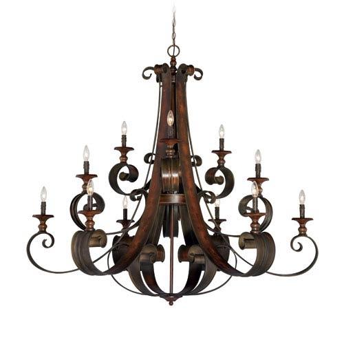 Seville Spanish Bronze 12-Light Chandelier