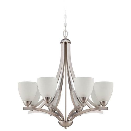 Almeda Satin Nickel Eight-Light Chandelier