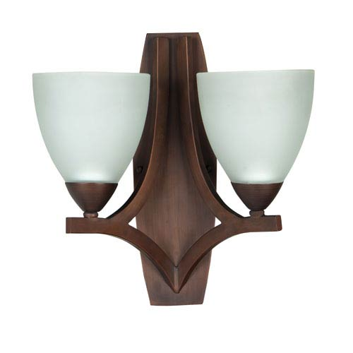Almeda Old Bronze Two-Light Wall Sconce