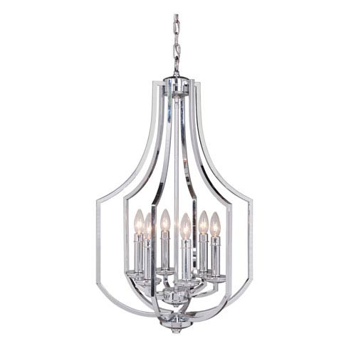 Hayden Chrome Six-Light 18-Inch Chandelier