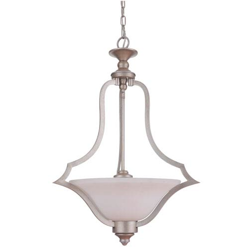 Gabriella Athenian Obol Three-Light Pendant with White Frosted Glass Shade