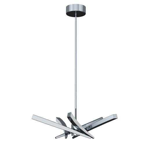 Aura Chrome LED 10-Inch Chandelier