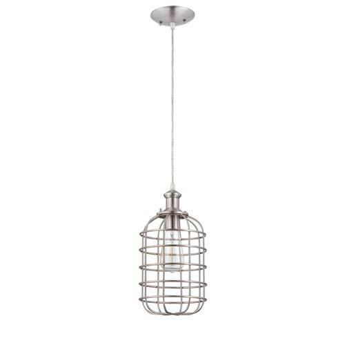 Jeremiah by Craftmade Brushed Polished Nickel 79.50-Inch High One-Light Mini-Pendant