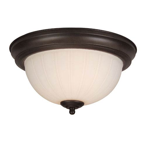 Craftmade Frosted Melon Step Pan Oiled Bronze Semi-Flush Pendant