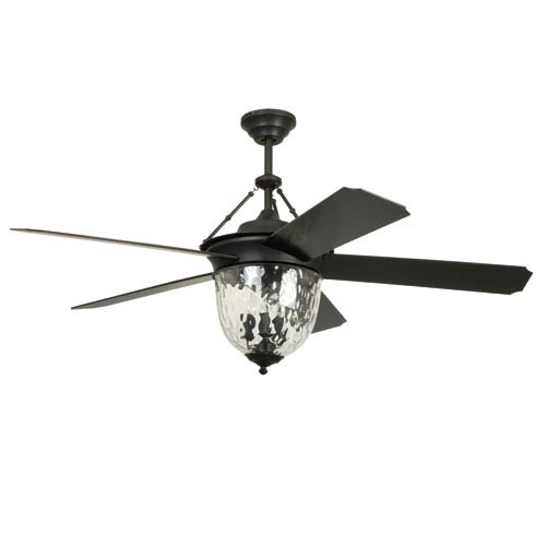 Ellington By Craftmade Cavalier Aged Bronze Brushed 52 Inch Outdoor Ceiling  Fan With Aged Bronze