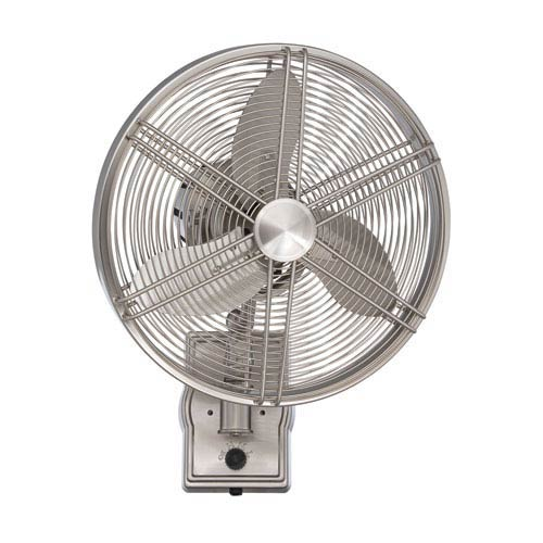 Faraday Brushed Polished Nickel 14-Inch Wall Fan with Brushed Nickel Blades