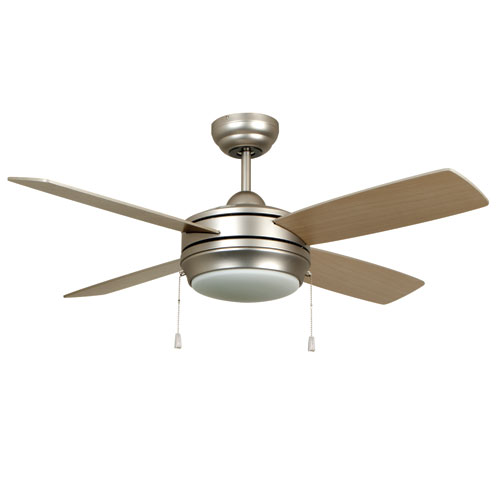 Laval Brushed Pewter 44-Inch Ceiling Fan with Reversible Blades and LED Light Kit