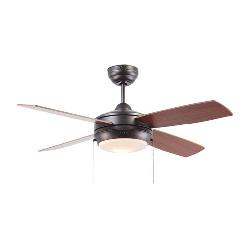 Laval Espresso 44-Inch Ceiling Fan with Reversible Blades and LED Light Kit