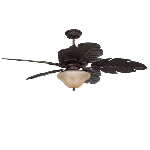 Pineapple Aged Bronze 52 Inch Blade Span Outdoor Ceiling Fan And Blades