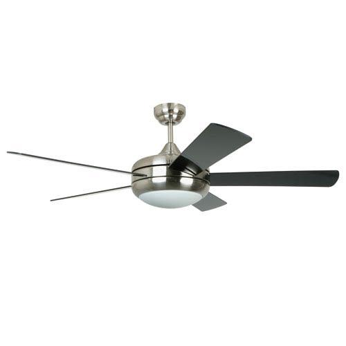 100 watt halogen ceiling fan bellacor ellington by craftmade titan satin chrome 52 inch one light ceiling fan with reversible aloadofball Choice Image