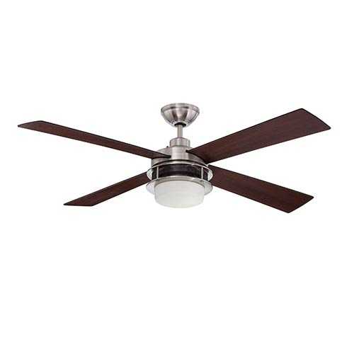 Ellington by Craftmade Urban Breeze Brushed Polished Nickel 52-Inch Two-Light Ceiling Fan