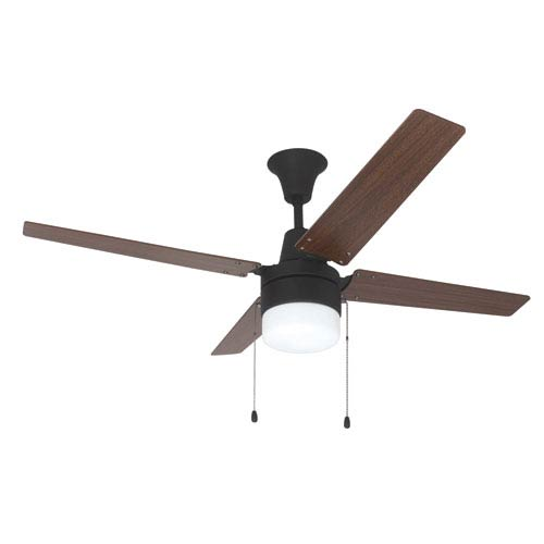 Connery Aged Bronze Brushed 48-Inch Ceiling Fan With Golden Maple/Mahogany Blades and LED Light Kit