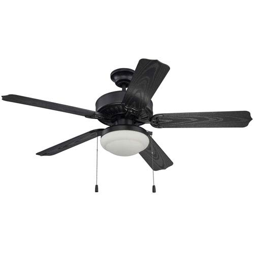 Craftmade Enduro Matte Black 52 Inch Outdoor Ceiling Fan With Matte Black Blades And Led Light Kit End52mbk5pc1 Bellacor