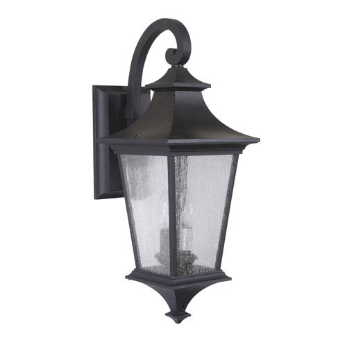 Argent II Midnight Two-Light Outdoor Wall Mount