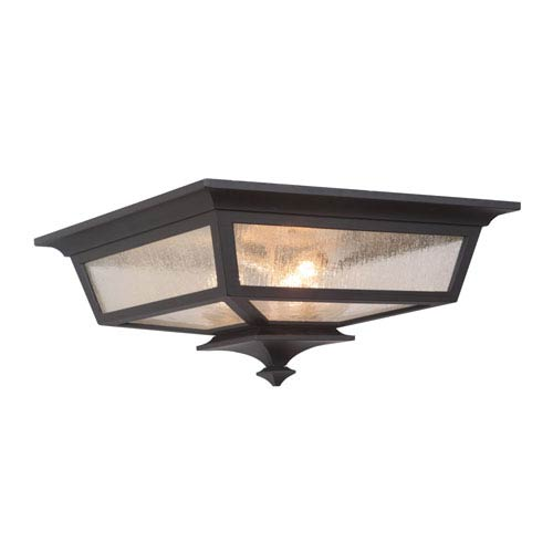Craftmade Argent II Midnight Three-Light Outdoor Ceiling Mount