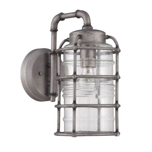 Hadley Aged Galvanized Seven-Inch Outdoor Wall Sconce