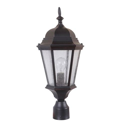 Craftmade Chadwick Oiled Bronze Gilded One-Light Outdoor Post Mount