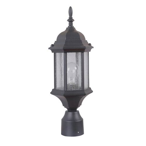 Craftmade Hex Style Cast Matte Black One-Light 18-Inch Outdoor Post Mount