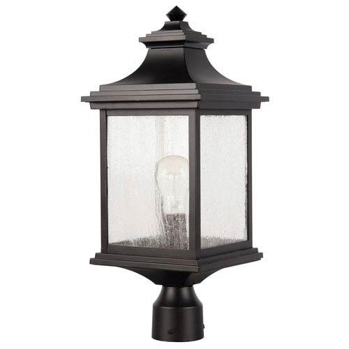 Gentry Midnight One-Light Outdoor Post Mount