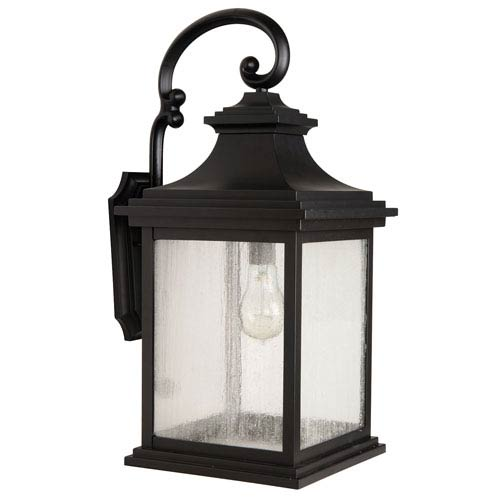 Gentry Midnight One-Light Outdoor Wall Mount