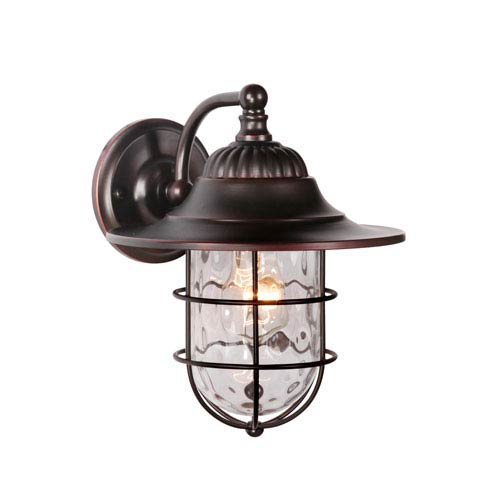 Fairmont Oiled Bronze Gilded One-Light Small Outdoor Wall Mount Lantern