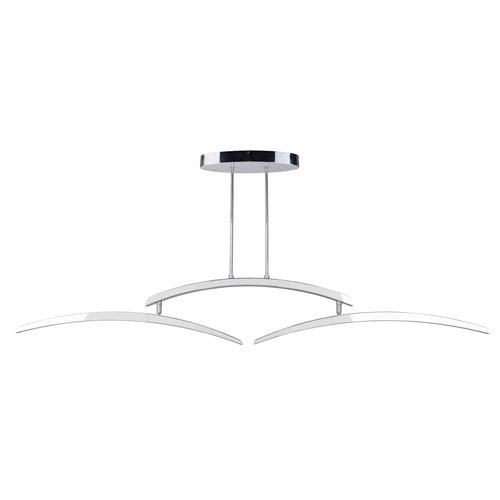 Aura Chrome 5-Inch Two-Arm LED Island Pendant