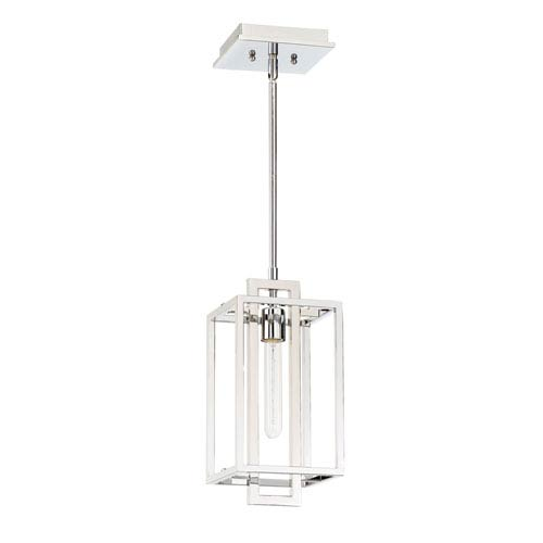 Cubic Chrome 7 Inch One Light Mini Pendant