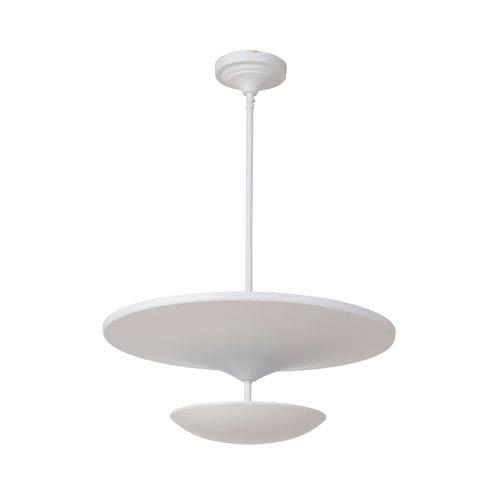 Echo White 19-Inch LED Pendant