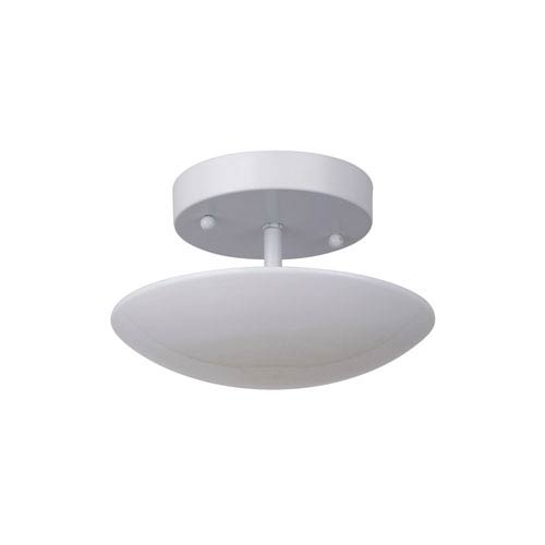 Echo White 8-Inch LED Semi Flush