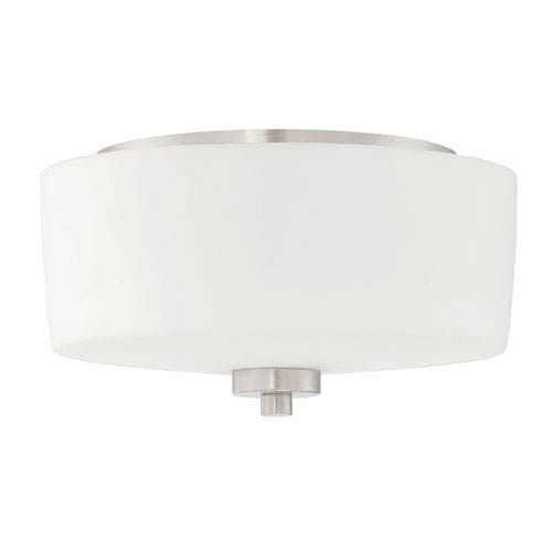 Clarendon Brushed Polished Nickel 12-Inch Two-Light Flush Mount