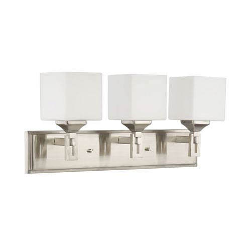 Urbane Brushed Polished Nickel 23-Inch Three-Light Wall Sconce