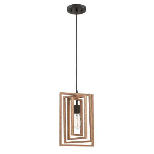 Cube Espresso 9-Inch One-Light Mini Pendant