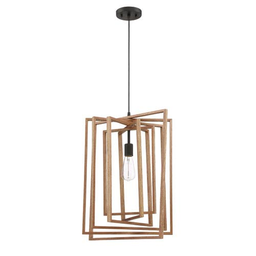 Cube Espresso 17-Inch One-Light Pendant