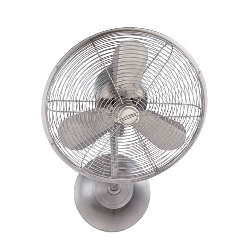 Bellows Stainless Steel 14-Inch Wall Mount Fan with Three Blades