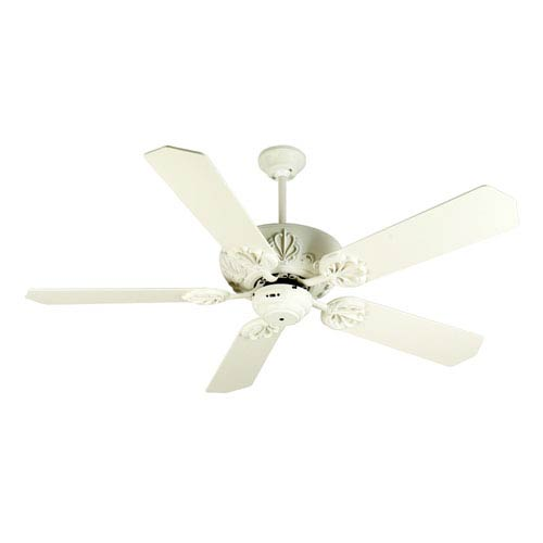 Craftmade Cordova Antique White Ceiling Fan with 52-Inch Standard Antique White Blades