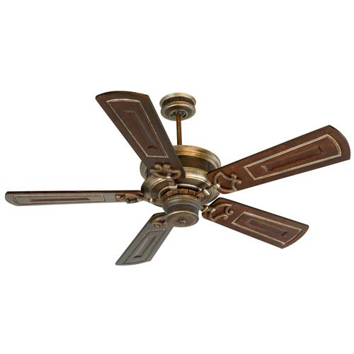 Woodward Dark Coffee/Vintage Madera Ceiling Fan with 54-Inch Custom Carved Woodward Walnut Blades