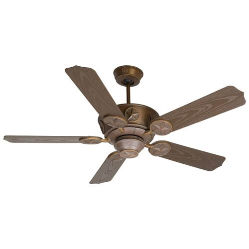 Craftmade Chaparral Aged Bronze Ceiling Fan with 52-Inch Outdoor Standard Brown Blades