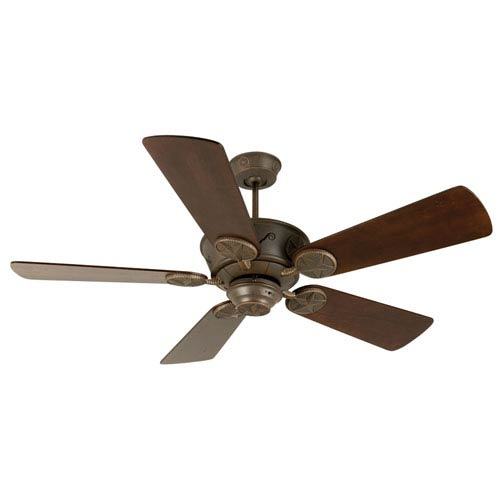 Craftmade Chaparral Aged Bronze Ceiling Fan with 54-Inch Premier Distressed Walnut Blades