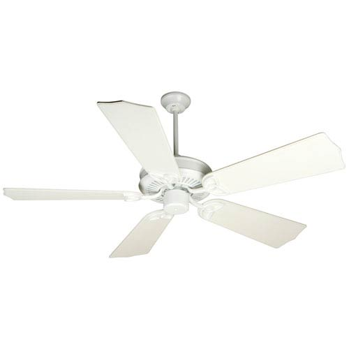 Craftmade CXL White Ceiling Fan with 56-Inch Custom Carved Traditional Distressed White Blades