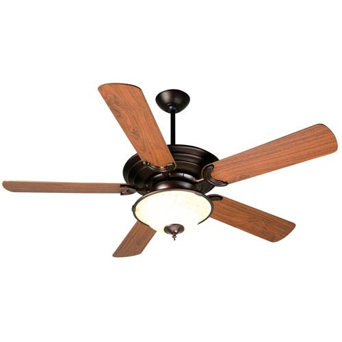 Craftmade Metro Oiled Bronze Ceiling Fan with 52-Inch Plus Series Walnut Blades and LED Light Kit