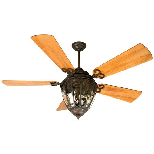 Craftmade Olivier Aged Bronze Ceiling Fan with 54-Inch Premier Distressed Oak Blades